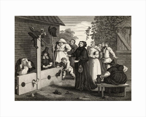 Hudibras and Ralpho in the Stocks by William Hogarth