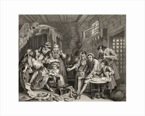 The Prison Scene by from 'The Works of William Hogarth'