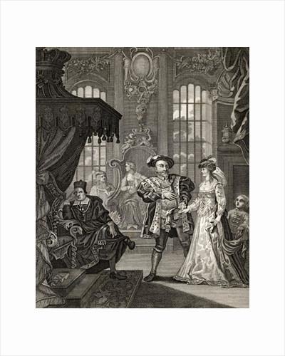 Henry VIII and Anne Boleyn by William Hogarth