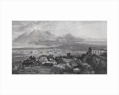 Town and Isthmus of Corinth seen from the Acropolis by Samuel Bough