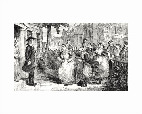 Gideon Gray addressing the Middlemas Wives by George Cruikshank