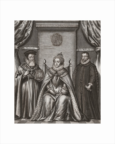 William Cecil, Queen Elizabeth I and Sir Francis Walsingham by Anonymous