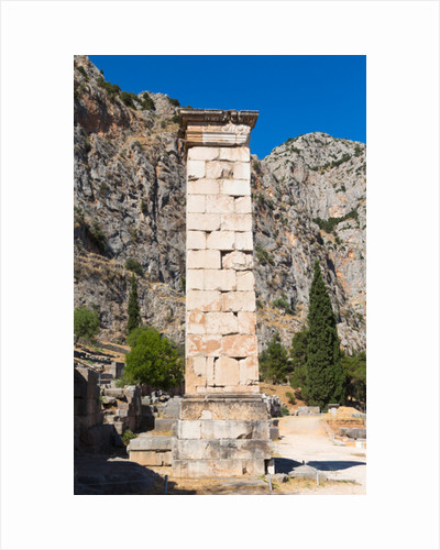 Ancient Delphi, Phocis, Greece. The Pillar of Prusias II, the Greek king of Bithynia by Anonymous