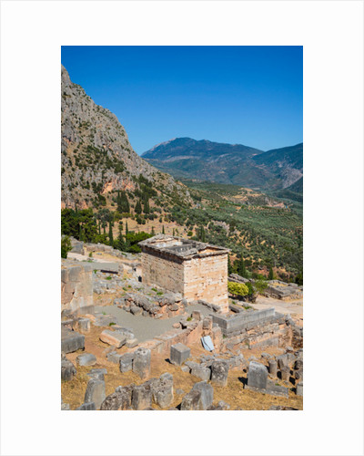 Ancient Delphi, Phocis, Greece. Treasury of the Athenians by Anonymous