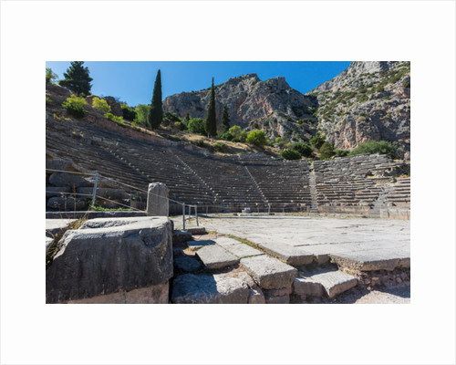 Ancient Delphi, Phocis, Greece. The Theatre of Delphi by Anonymous
