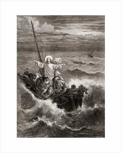 Jesus calming the storm on the Sea of Galilee by Anonymous