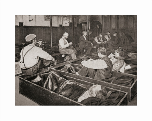 Men at The four penny coffin by Anonymous