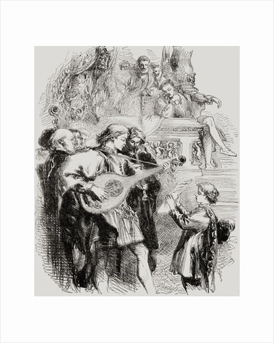 Street musicians in the sixteenth century by Anonymous