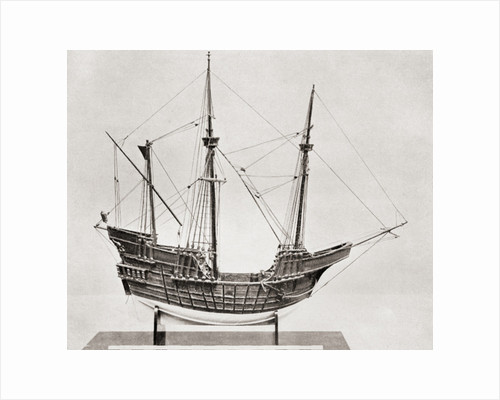 Model of a fifteenth century Portuguese Carrack by Anonymous