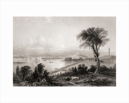 Boston and Bunker Hill Massachusetts USA in the 19th century by Anonymous