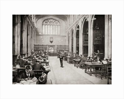 The Reading Room, Guildhall Library, London, England in the early 20th century by Anonymous