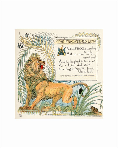 The Frightened Lion by Walter Crane