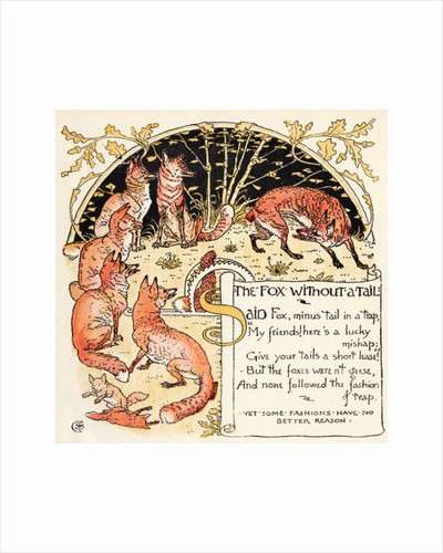 The Fox without a Tail by Walter Crane