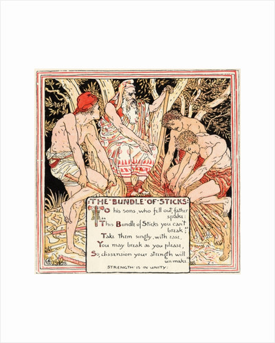 The Bundle of Sticks by Walter Crane