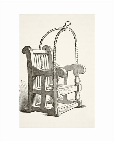 Ducking stool used in the 15th century by English School