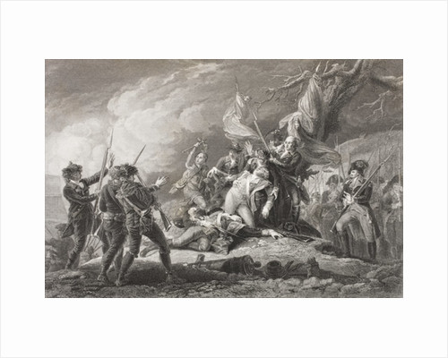 Death of General Montgomery at the Battle of Quebec by English School