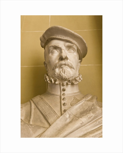 Copy of a portrait bust of Hernan Cortes by Michel Louis Victor Mercier