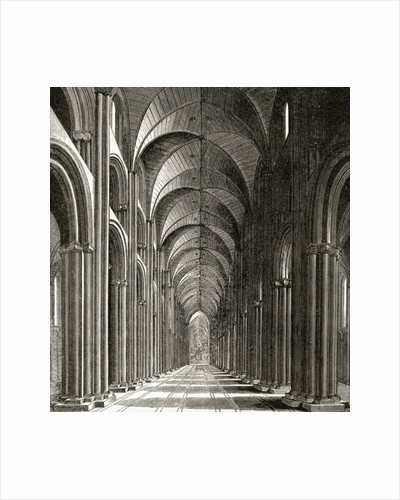 Interior of the Nave of St. Paul's by Wenceslaus Hollar