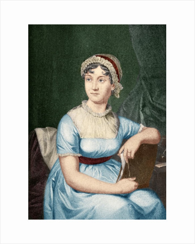 Jane Austen illustration from 'Little Journeys to the Homes of Famous Women', published 1897 by English School