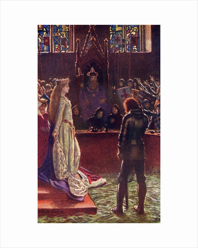 Sir Lanval's Lady Appeals to the Judges by Byam Shaw