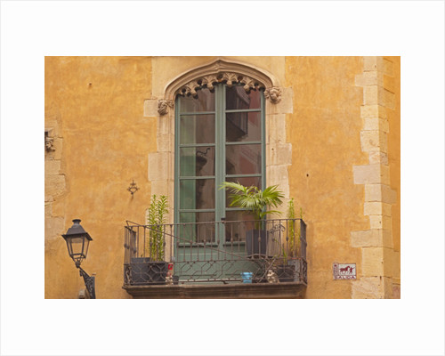 Window and balcony in Gothic Quarter. Architectural detail. by Anonymous
