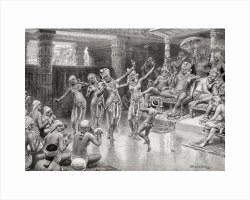 A 19th century artist's impression of Gautamiputra Satakarani celebrating his victory over Nahapana by Robert Dudley
