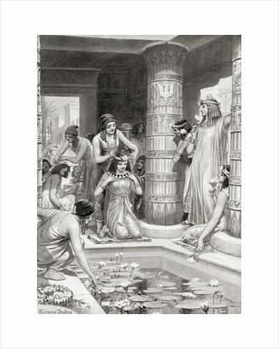 Guests arriving for dinner in ancient Egypt were given water to wash thier feet and hands, annointed with scented oil and crowned with garlands of flowers by Robert Dudley