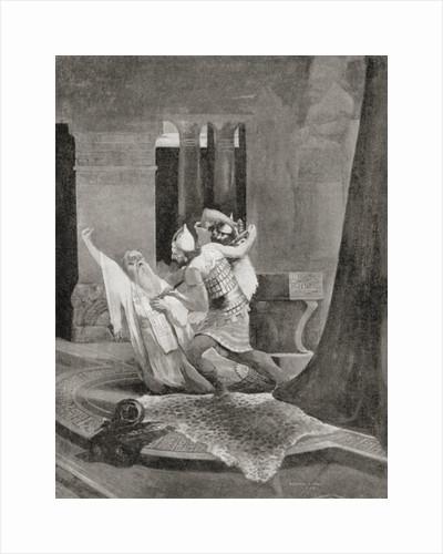 The assassination of the Assyrian king Sennacherib in 681 BC by English School