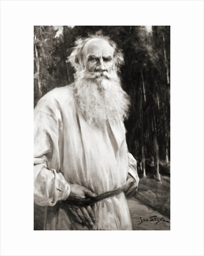 Count Leo Tolstoy, after a painting by Jan Styka by Russian School
