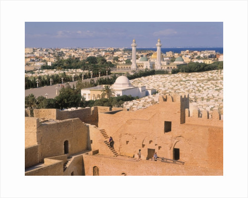 Bourguiba Mosque and cemetery seen from the Ribat by Unknown