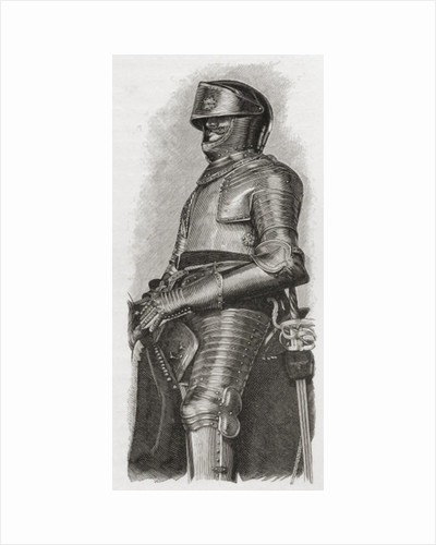 Gilt armour given to Charls I by the city of London by English School