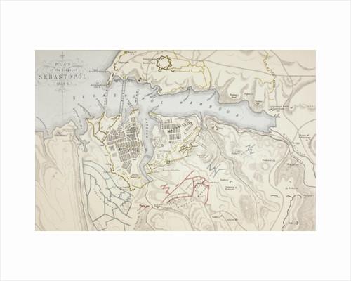 Plan of the Siege of Sebastopol by English School