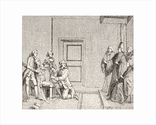 Prisoner Undergoing Torture by Brodequin by French School