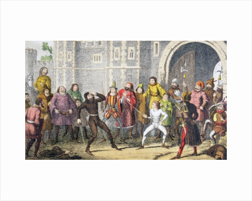 'The same Sir John, the very same. I saw him break Skogan's head at the court gate, when he was a crack not thus high' by George Cruikshank