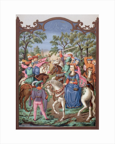 Fifteenth century Chateau Life: starting out on a promenade by English School