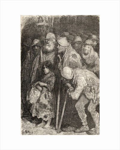 Spanish Beggars from Burgos, Spain in the 19th century by Gustave Dore