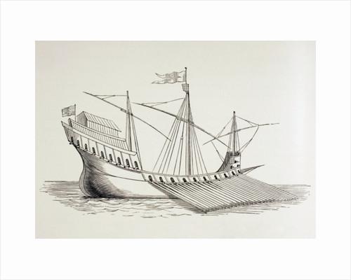 Sixteenth Century Galley by European School