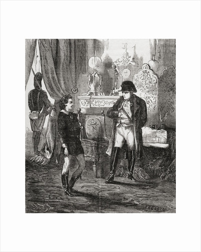 The interrogation of Friedrich Stabs after his failed attempt to assassinate Napoleon I in 1809 by French School