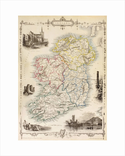 Map of Ireland from 'The History of Ireland' by Thomas Wright by English School