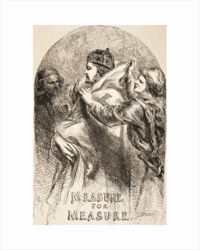 Illustration for Measure for Measure by Sir John Gilbert