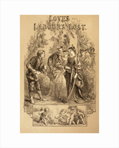 Illustration for Love's Labour's Lost by Sir John Gilbert