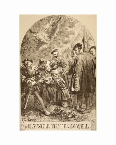 Illustration for All's Well That Ends Well by Sir John Gilbert
