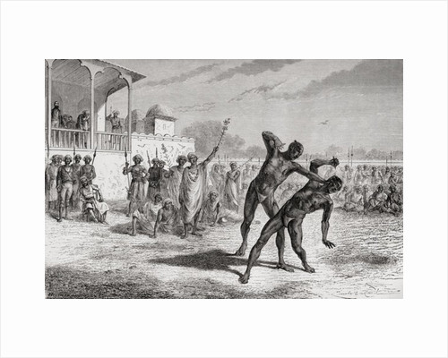 Blood sport in Baroda, India in the 19th century. by Anonymous