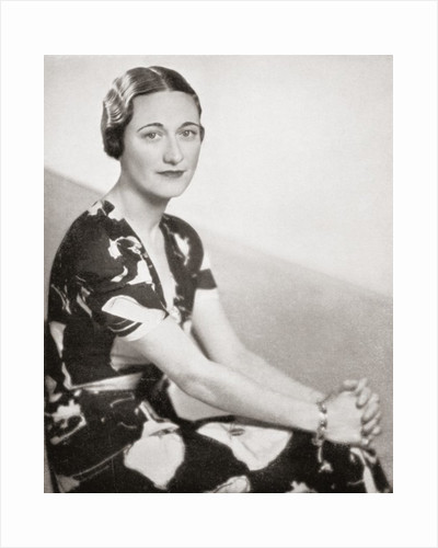 Wallis Simpson, previously Wallis Spencer, later the Duchess of Windsor by Anonymous