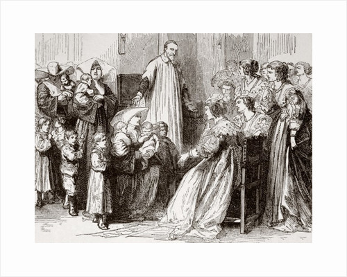Saint Vincent de Paul. French Catholic priest who served the poor. Here preaching to the rich about the poor by Anonymous