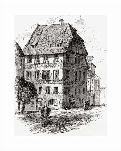 Albrecht Dürer's house, Nuremberg, Bavaria, Germany in the 19th century by Anonymous