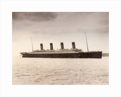 The 46 328 tons RMS Titanic of the White Star Line which sank at 2 20 AM Monday morning April 15 after hitting iceberg in North Atlantic 1912 by Anonymous