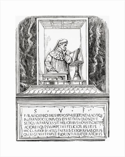 Tomb of Dante in Ravenna, Italy. Durante degli Alighieri, aka Dante by Anonymous