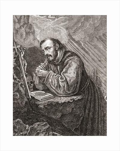 Saint Francis of Assisi, born Giovanni Francesco di Bernardone by Anonymous