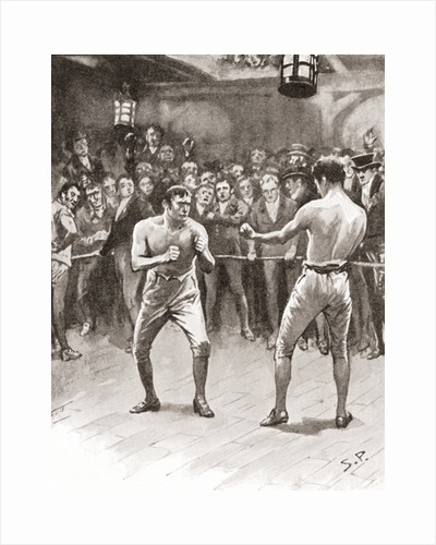 Bare-knuckle boxing in the 19th century by Anonymous